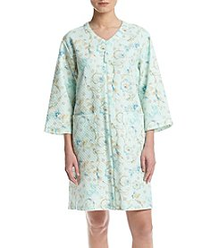 Miss Elaine® Zip Floral Robe