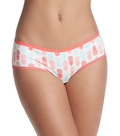 Relativity® Plus Size Pineapple Print Hipster Panty