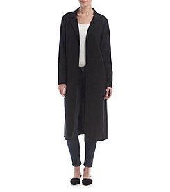 Kensie® Long Crepe Jacket