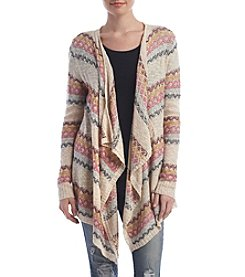 Pink Rose® Open Drape Cardigan
