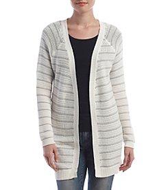 Pink Rose® Stripe Sweater Cardigan