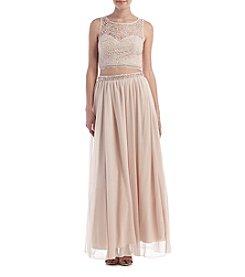 My Michelle® Two Piece Lace Chiffon Dress