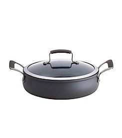 Epicurious 4-Quart Hard-Anodized Covered Sauteuse Pan