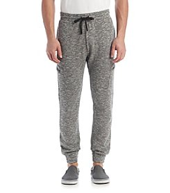 William Rast® Men's Marled Zip Cargo Joggers