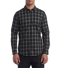 Calvin Klein Men's Long Sleeve Large Scale Herringbone Plaid Button Down Shirt