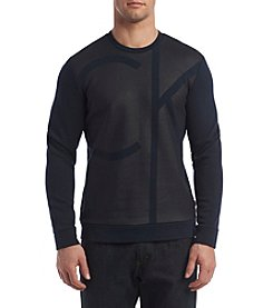 Calvin Klein Men's Long Sleeve Colorblocked Crew Neck Pullover