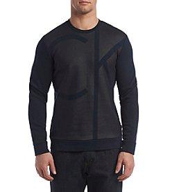 Calvin Klein Men's Long Sleeve Colorblocked Crew Neck Pullover