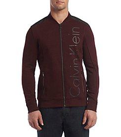 Calvin Klein Men's Mixed Media Bomber Jacket