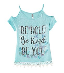 Beautees Girls' 7-16 Be Bold Cold Shoulder Top