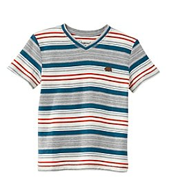 Lucky Brand® Boys' 8-20 Striped V-Neck Short Sleeve Tee