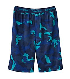 Calvin Klein Boys' 5-16 Camo Sleep Shorts