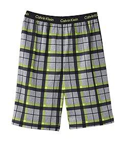 Calvin Klein Boys' 5-16 Plaid Sleep Shorts