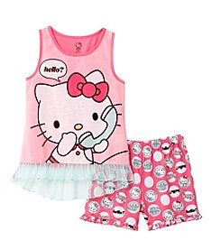 Komar Kids Girls' 2-Piece Hello Kitty Pajama Set