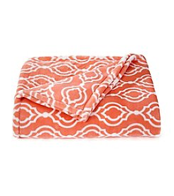 LivingQuarters® Coral Trellis Luxe Plush Throw