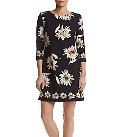 Taylor Dresses Floral Crepe Dress