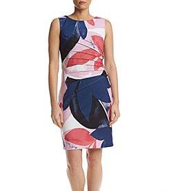 Ivanka Trump® Floral Scuba Starburst Dress