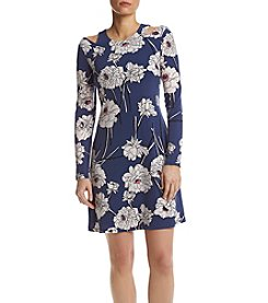 Ivanka Trump® Floral Fit And Flare Dress