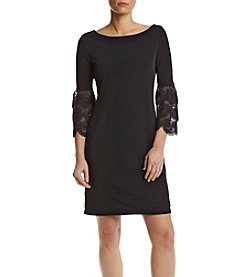 Ivanka Trump® Lace Bell Sleeve Shirt Dress