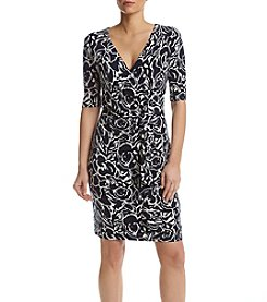 Ivanka Trump® Floral Matte Jersey Dress