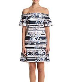 Jessica Simpson Off Shoulder Shift Dress