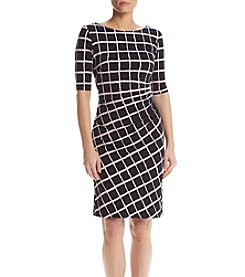 Connected® Grid Matte Jersey Dress