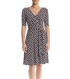 Madison Leigh® Geometric Wrap Dress