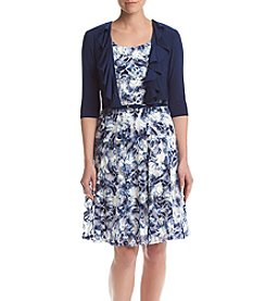 R&M Richards® Belted Floral Dress