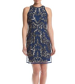Adrianna Papell® Lace Sheath Halter Dress