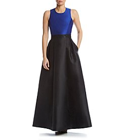Calvin Klein Long Taffeta Dress