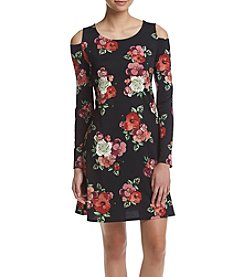 AGB® Floral Cold-Shoulder Dress