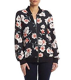 Relativity® Floral Bomber Jacket