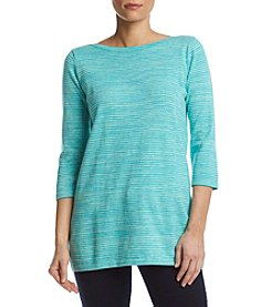 Eight Eight Eight® Spacedye Boat Neck Sweater