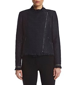 Tommy Hilfiger® Tweed Fringed Jacket