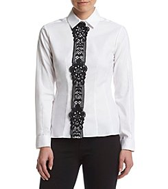 Tommy Hilfiger® Lace Trim Shirt