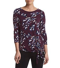 Ivanka Trump® Floral Side-Tie Top