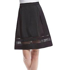 Ivanka Trump® Mesh Inset Skirt
