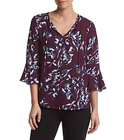 Ivanka Trump® Tie Neck Peasant Blouse
