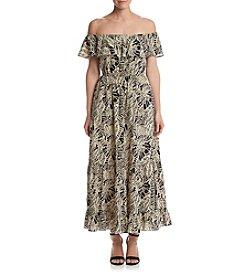 Chelsea & Theodore® Off Shoulder Maxi Dress