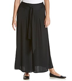 Chelsea & Theodore® Plus Size Belted Palazzo Pants