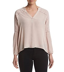 Ruff Hewn GREY Geo Yoke Woven Top