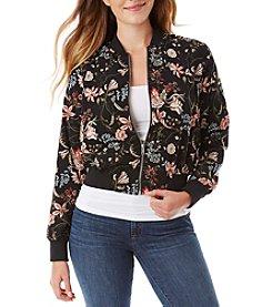 A. Byer Floral Bomber Jacket