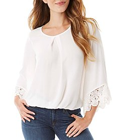 A. Byer Crochet Trim Blouse