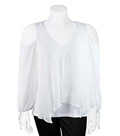A. Byer Plus Size Cold-Shoulder Blouse
