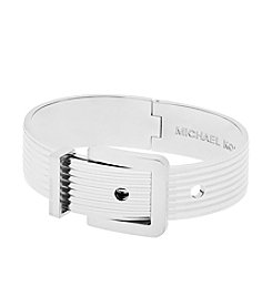 Michael Kors® Wide Ribbed Buckle Bangle Bracelet