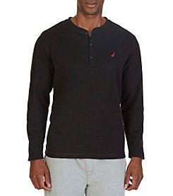 Nautica® Men's Long Sleeve Henley Sleep Shirt