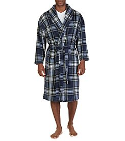 Nautica® Men's Plaid Plush Robe