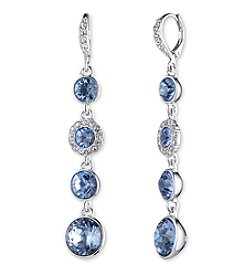 Givenchy® Sapphire Crystal Linear Earrings