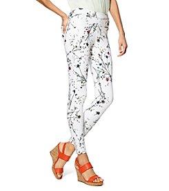 HUE® Floral Curvy Fit Denim Leggings