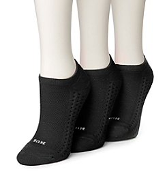 HUE® Air Cushion No Show 4-Pack Socks