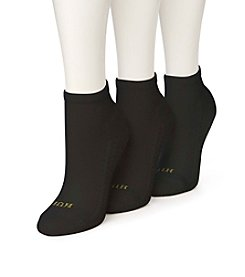 HUE® 4-Pack Air Cushion Quarter Top Socks